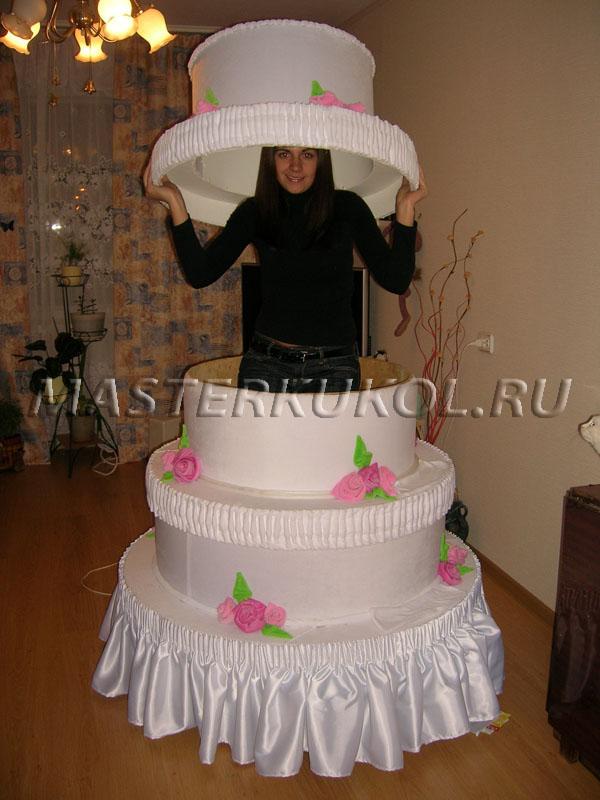 Как сделать большой бутафорский торт